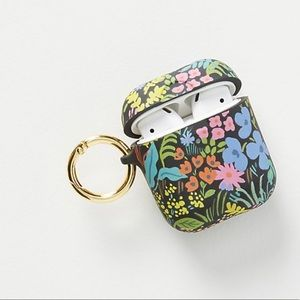 Black Floral AirPods Case